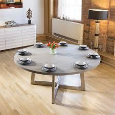 massive 180cm luxury round dining table oak wood grey wash oil finish