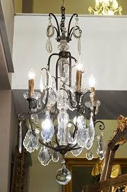 small antique bronze crystal chandelier