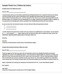 Follow Up Letter Template - 9+ Free Sample, Example Format Download ...