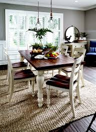 Ashley's Marsilona Dining- Love the dark and light wood together.
