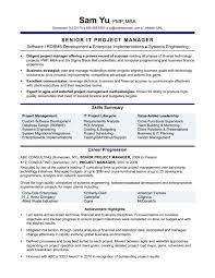Account Manager Resume Objective Operations Marketing Format Skills