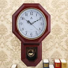 details about hot antique wall clock with pendulum roman numerals chiming classic wood fg2