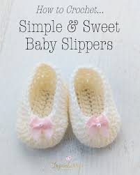 Crochet Baby Shoes Pattern Amazing Simple Sweet Baby Slippers Free Crochet Pattern Loganberry