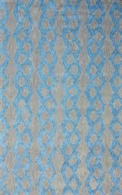 modern contemporary blue grey yellow orange hand hooked area rug carpet cotton
