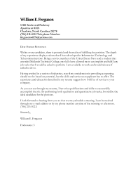 dear human resources cover letter william e cover letter for gainful employment