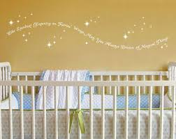 like stardust glistening on fairies wings vinyl wall decal quote baby girl or baby on vinyl wall art quotes for nursery with fairy wall decal etsy