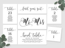 Wedding Seating Chart Table Cards Place Card Mr And Mrs Card