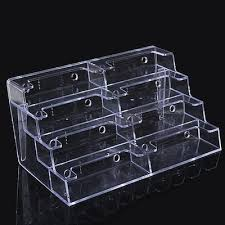 hot 8 pocket desktop clear acrylic business card holder countertop display stand