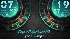 Futuristic Clock Angle Futuristic Widget Hd L R For Xwidget By Jimking On Deviantart