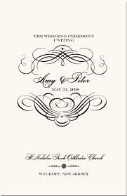 Wedding Ceremony Program Cover Greek Orthodox Wedding Program Example Wedding Directories Order Of