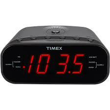 timex am fm dual alarm clock radio with digital tuning clocks