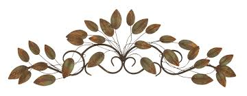 multi color metal leaf wall decor