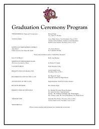 Party Agenda Templates Graduation Ceremony Template Thevillas Co Inside