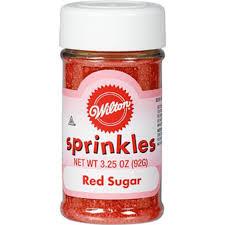Wilton <b>Red Sugar Sprinkles</b> 3.25oz   Party City