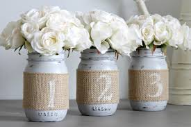Mason Jar Table Decorations Wedding Wedding Table Numbers Rustic Wedding Decor Wedding Party 61