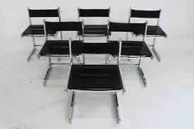 mid century modern chrome dining chairs set of 6