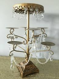 chandelier cupcake stand white
