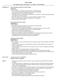 Architecture Intern Resume Samples Velvet Jobs Internship Examples