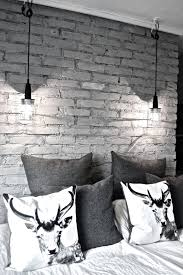 brick bedroom furniture. 16 beautiful exposed brick wall bedroom ideas stylish design with animal print pillows and two hanging lamps muebles noamd furniture