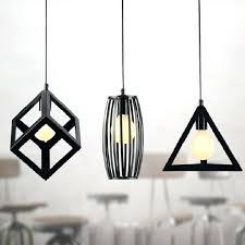 hanging bulb lamp vintage retro pendant lights led lamp metal cube cage lamp shade lighting hanging
