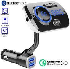 FM Transmitter Dual <b>USB Car Charger</b> Wireless <b>Bluetooth</b> Music ...