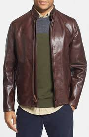 schott nyc café racer leather jacket