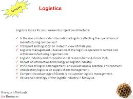 mbb business research methods ppt logistics topics for your research project could include
