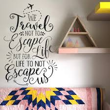 travel quote art wall stickers bedroom inspiration words vinyl wall decals living room home decor self on wall art words for bedroom with travel quote art wall stickers bedroom inspiration words vinyl wall