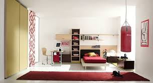 red and white bedroom furniture. Bedroom. White Bedroom Wall Themes With Wooden Bed And Brown Shelves Combined By Red Furniture R
