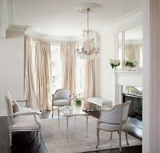 bay window curtains french living