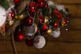 Winter Ball Decorations Mesmerizing Macro Shot Of Hanging Assorted Winter Ball Decorations For Christmas
