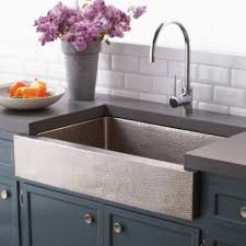 paragon brushed nickel farmhouse sink native trails hammered kitchen lucca sink large size
