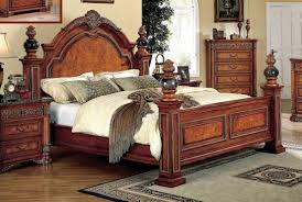 Meridian Bedroom Furniture Meridian Royal King Panel Bed In Cherry
