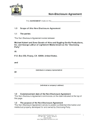 Nda Document Template Free Nda Template Confidentiality And Nondisclosure Agreement Free