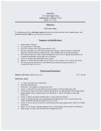Call Center Rep Resume New Resume Sample Call Center Agent Terrific Call Center Resume Call