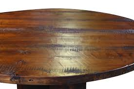 round rustic reclaimed table top and chairman within 48 designs 6