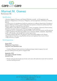 Caregiver Resume Template By Marivel M Gomez How To Write A