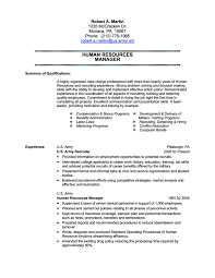Military Resume Samples Free Resume Templates 2018