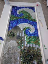 gallery of sea glass mosaic wall art