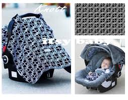 cat canopy baby infant car seat cover knott whole caboodle minky 5 piece