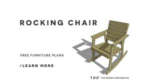 wooden rocking chair plans. free diy furniture plans // how to build a rocking chair - the design confidential wooden