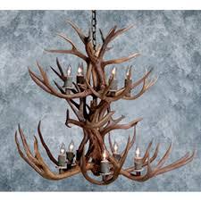 niagara antler chandelier mule deer small