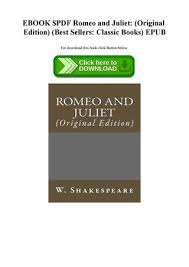 EBOOK PDF Romeo And Juliet Original Edition Best Sellers Classic Adorable Romeo And Juliet Best Images Download