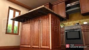 counter overhang support granite overhang