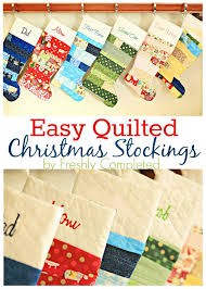 Quilted Christmas Stocking Pattern Amazing Easy Quilted Christmas Stocking Tutorial U Create