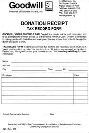 donation receipt forms tax information goodwill industries of northeast indiana inc
