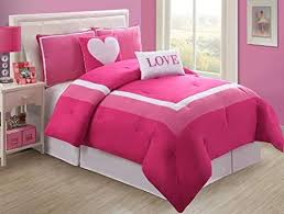 twin beds for teenage girls.  For 4 Pc Modern Pink And White Teengirl Comforter Set Twin Size Bedding Intended Beds For Teenage Girls