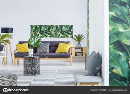 Yellow And Green Living Room Designs Yellow And Green Living Room Stock Photo Photographee Eu