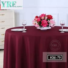 polyester overlay round table cloth