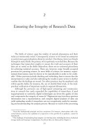 ensuring the integrity of research data ensuring the integrity page 33
